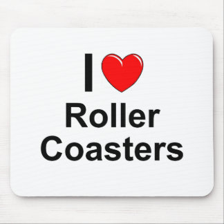 I Love Heart Roller Coasters Mouse Pad