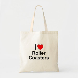 I Love Heart Roller Coasters Tote Bag