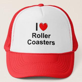 I Love Heart Roller Coasters Trucker Hat