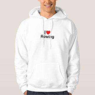 I Love Heart Rowing Hoodie