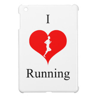 I Love Heart Running Health Fitness iPad Mini Cover