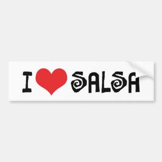 I Love Heart Salsa Bumper Sticker