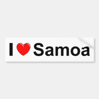 I Love Heart Samoa Bumper Sticker