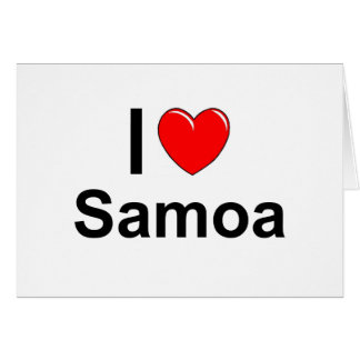 I Love Heart Samoa Card