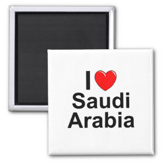 I Love Heart Saudi Arabia Magnet