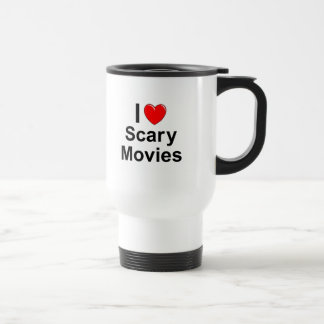 I Love Heart Scary Movies Travel Mug