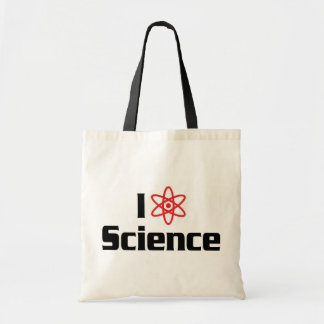 I Love Heart Science - Nuclear Physics Scientist Tote Bag