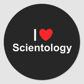 I Love (Heart) Scientology Classic Round Sticker
