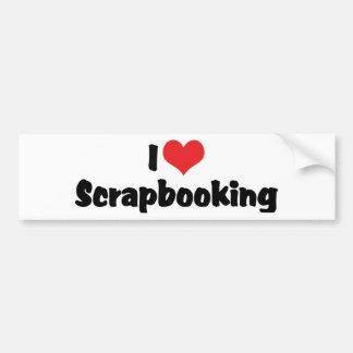 I Love Heart Scrapbooking -Scrapbook Lover Bumper Sticker