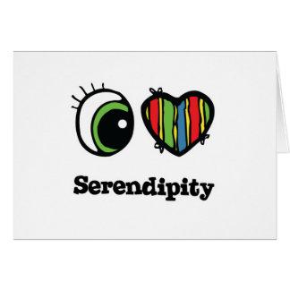 I Love (Heart) Serendipity Greeting Card