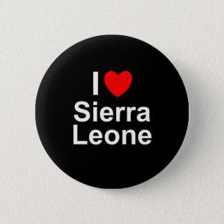 I Love Heart Sierra Leone 2 Inch Round Button