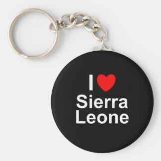 I Love Heart Sierra Leone Keychain