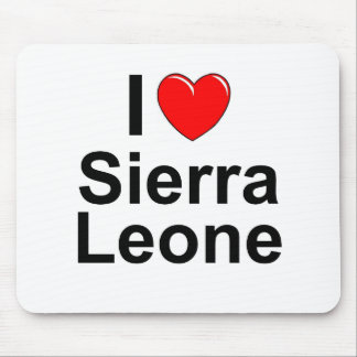 I Love Heart Sierra Leone Mouse Pad