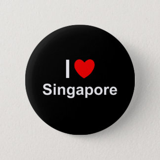 I Love Heart Singapore 2 Inch Round Button