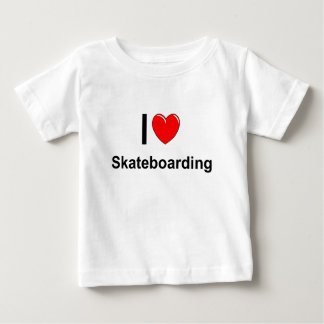 I Love Heart Skateboarding Baby T-Shirt