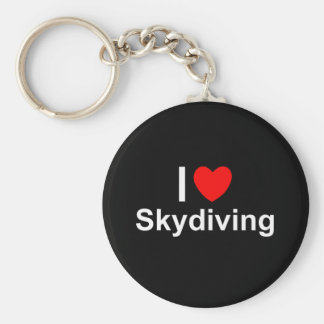I Love Heart Skydiving Keychain