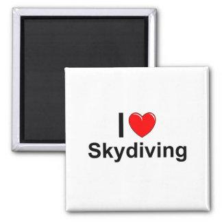 I Love Heart Skydiving Magnet
