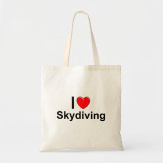I Love Heart Skydiving Tote Bag