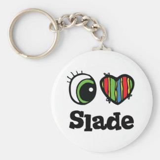 I Love (Heart) Slade Basic Round Button Keychain