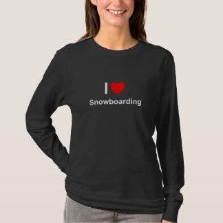 I Love Heart Snowboarding T-Shirt