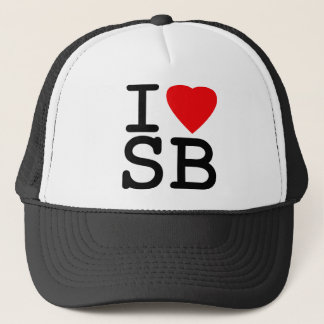 I Love Heart South Beach Miami Trucker Hat