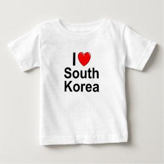 I Love Heart South Korea Baby T-Shirt