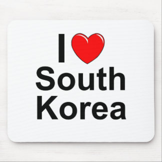 I Love Heart South Korea Mouse Pad
