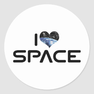 I Love Heart Space - Outer Space Astronomy Lover Classic Round Sticker