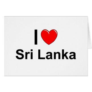 I Love Heart Sri Lanka Card