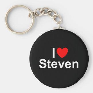 I Love (Heart) Steven Keychain