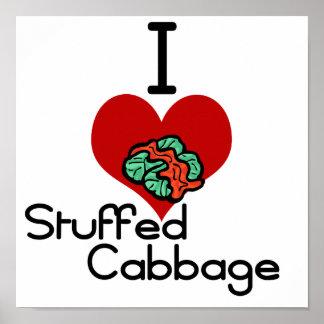 I love-heart Stuffed Cabbage Print