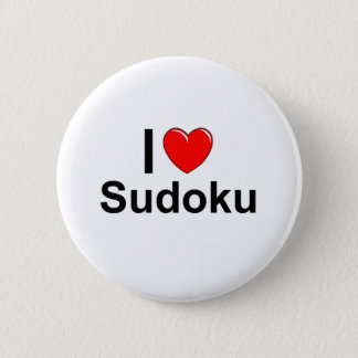 I Love Heart Sudoku 2 Inch Round Button