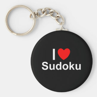 I Love Heart Sudoku Keychain