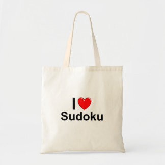 I Love Heart Sudoku Tote Bag