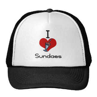 I love -heart sundaes trucker hat