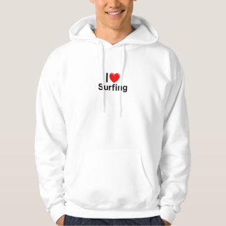 I Love Heart Surfing Hoodie
