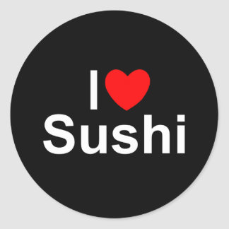I Love (Heart) Sushi Classic Round Sticker