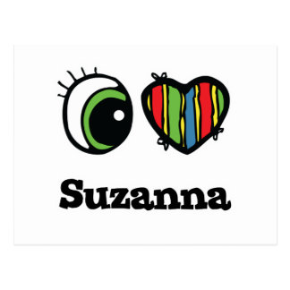 I Love (Heart) Suzanna Postcard