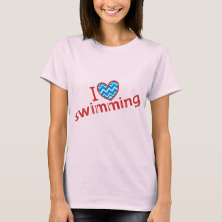 I love (heart) Swimming T-Shirt