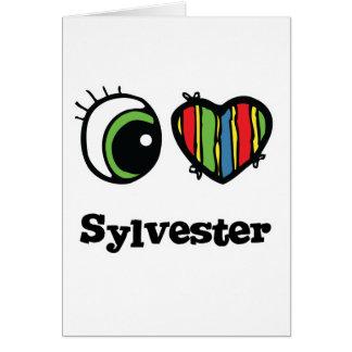 I Love (Heart) Sylvester Greeting Card