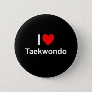 I Love Heart Taekwondo 2 Inch Round Button