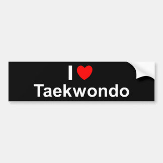 I Love Heart Taekwondo Bumper Sticker