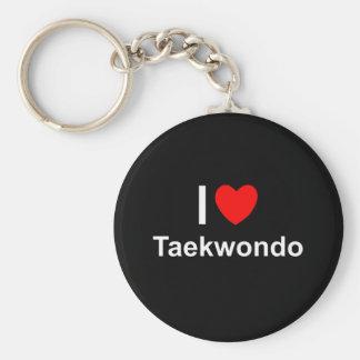 I Love Heart Taekwondo Keychain