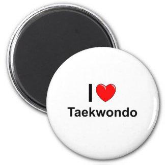 I Love Heart Taekwondo Magnet