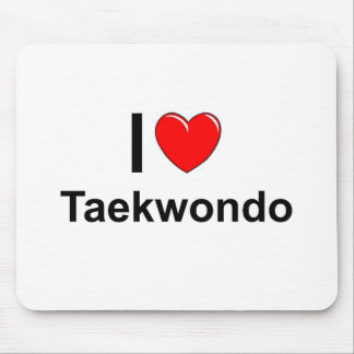 I Love Heart Taekwondo Mouse Pad