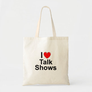 I Love Heart Talk Shows Tote Bag