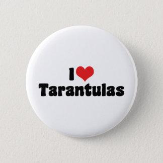 I Love Heart Tarantulas - Spider Lover 2 Inch Round Button