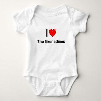 I Love Heart The Grenadines Baby Bodysuit