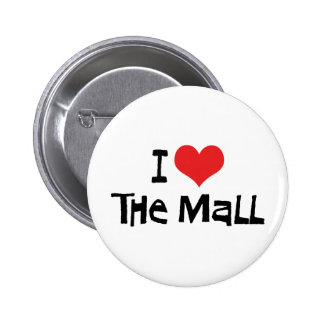I Love Heart The Mall - Shopping Lover 2 Inch Round Button