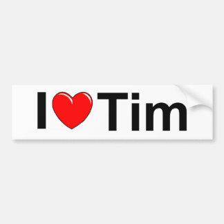 I Love (Heart) Tim Bumper Sticker